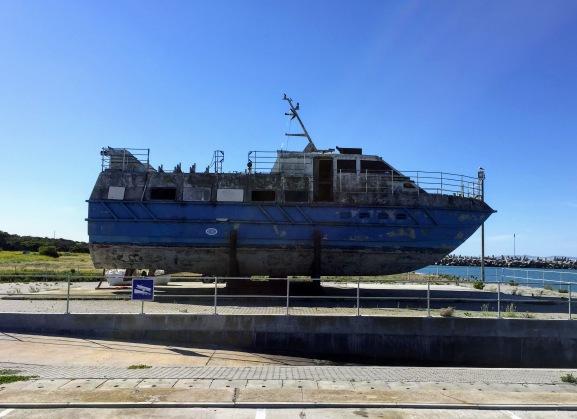 Old prisoner transporter boat